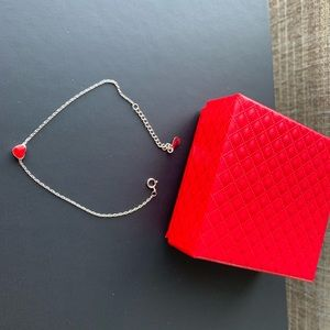 Brand new Hearts 925 silver bracelet